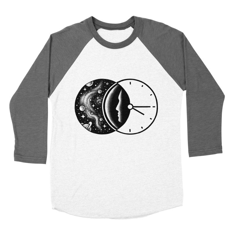 Space and Time Men's Baseball Triblend T-Shirt by Buko