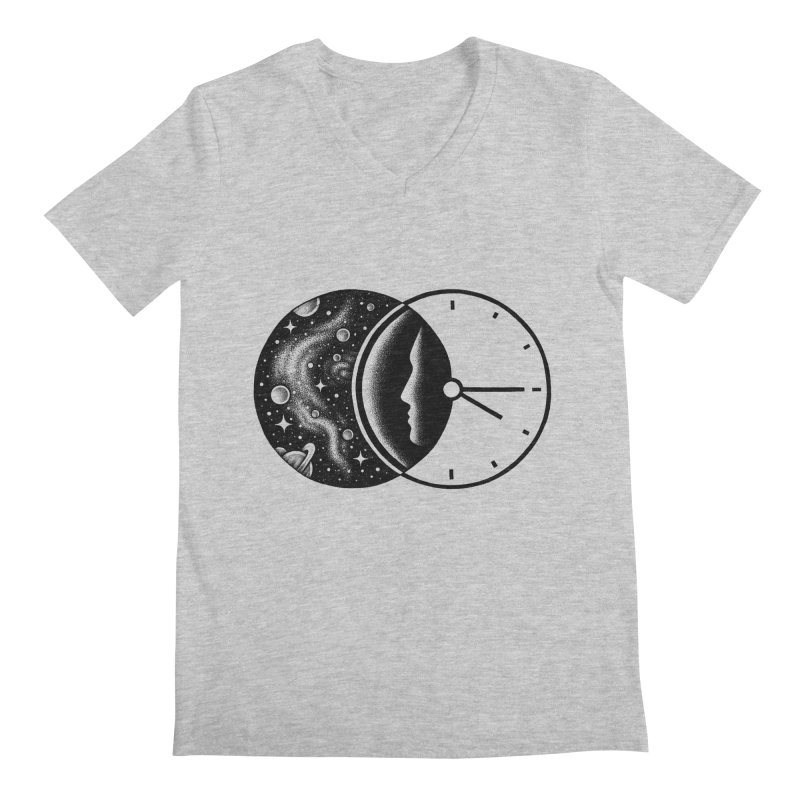 Space and Time Men's V-Neck by Buko