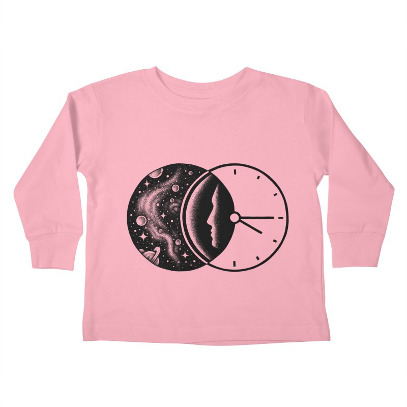 Space and Time Kids Toddler Longsleeve T-Shirt by Buko
