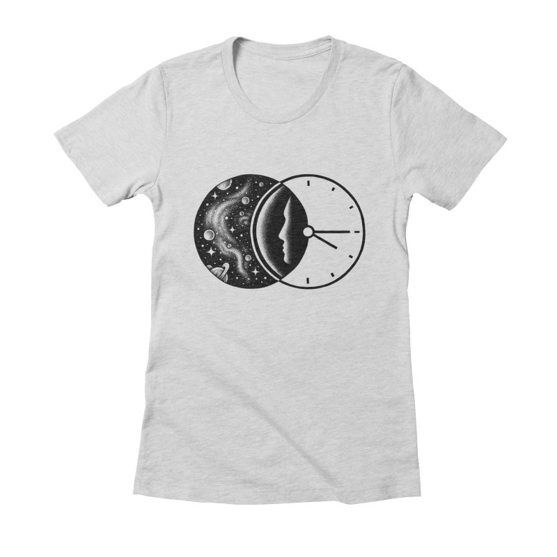 Space and Time Women's Fitted T-Shirt by Buko