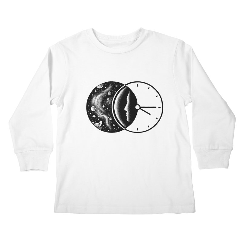 Space and Time Kids Longsleeve T-Shirt by Buko