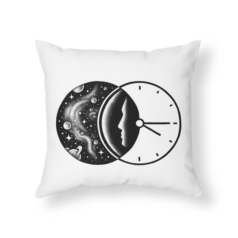 Space and Time Home Throw Pillow by Buko