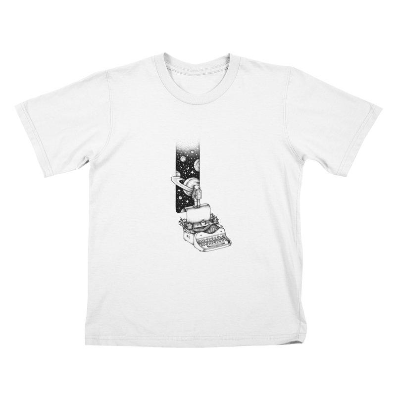Interstellar Journey Kids T-shirt by Buko