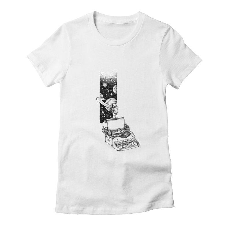 Interstellar Journey Women's Fitted T-Shirt by Buko