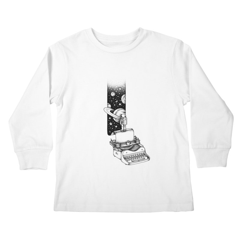Interstellar Journey Kids Longsleeve T-Shirt by Buko