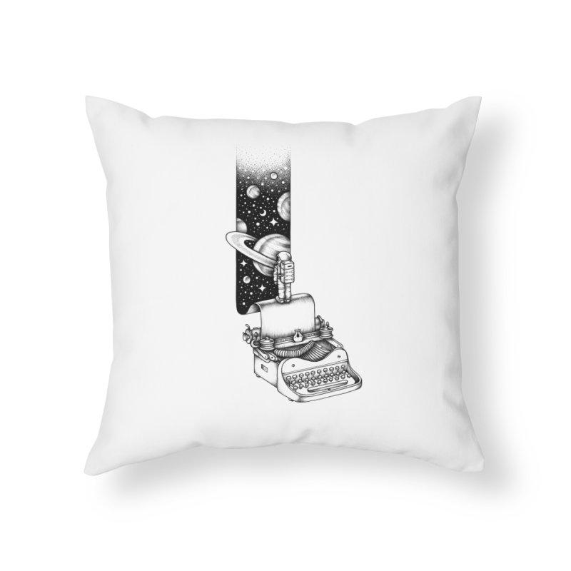 Interstellar Journey Home Throw Pillow by Buko