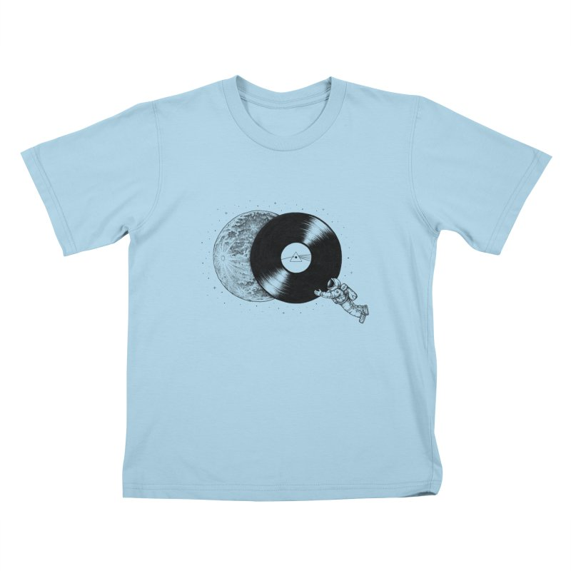 The Dark Side of the Moon Kids T-shirt by Buko