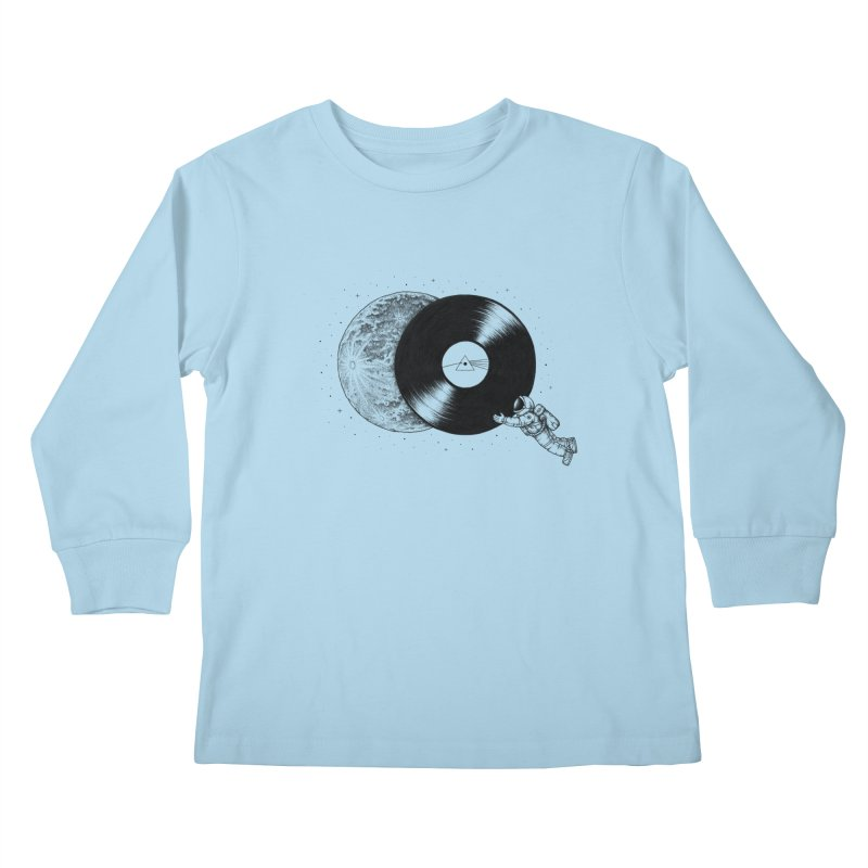 The Dark Side of the Moon Kids Longsleeve T-Shirt by Buko