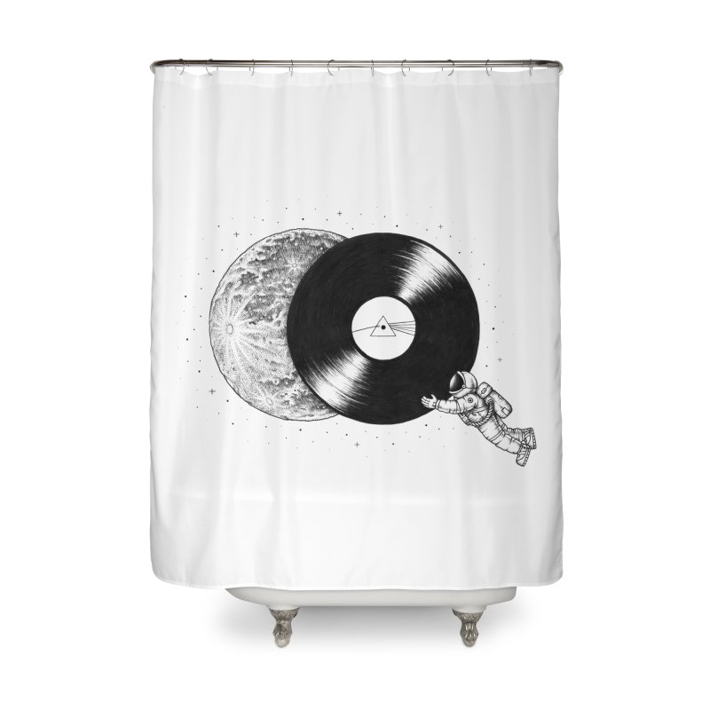 The Dark Side of the Moon Home Shower Curtain by Buko