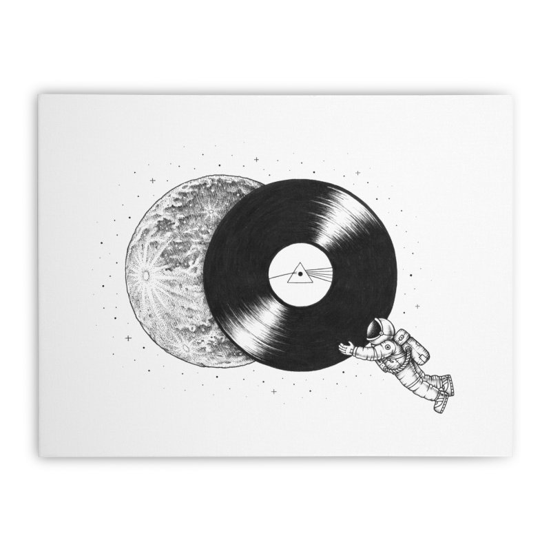 The Dark Side of the Moon Home Stretched Canvas by Buko