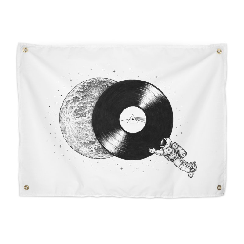 The Dark Side of the Moon Home Tapestry by Buko