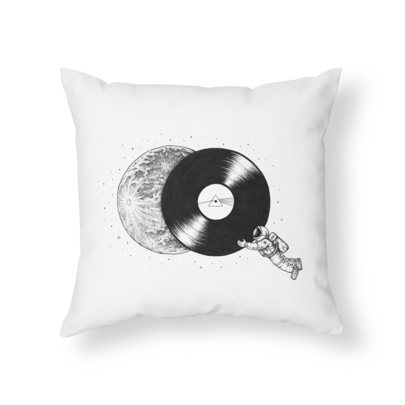 The Dark Side of the Moon Home Throw Pillow by Buko