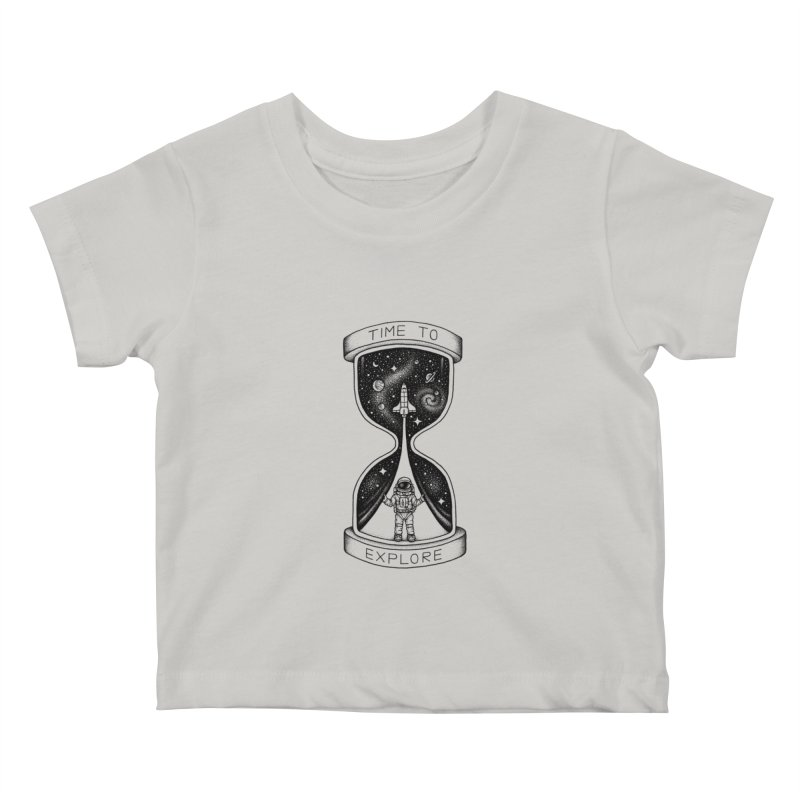 Time to Explore Kids Baby T-Shirt by Buko