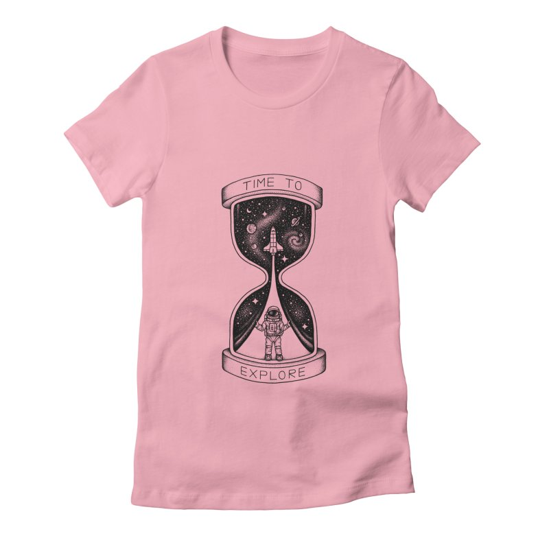 Time to Explore Women's Fitted T-Shirt by Buko