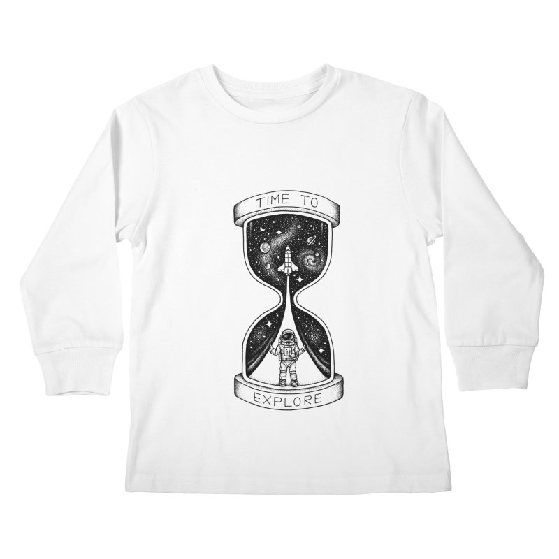 Time to Explore Kids Longsleeve T-Shirt by Buko