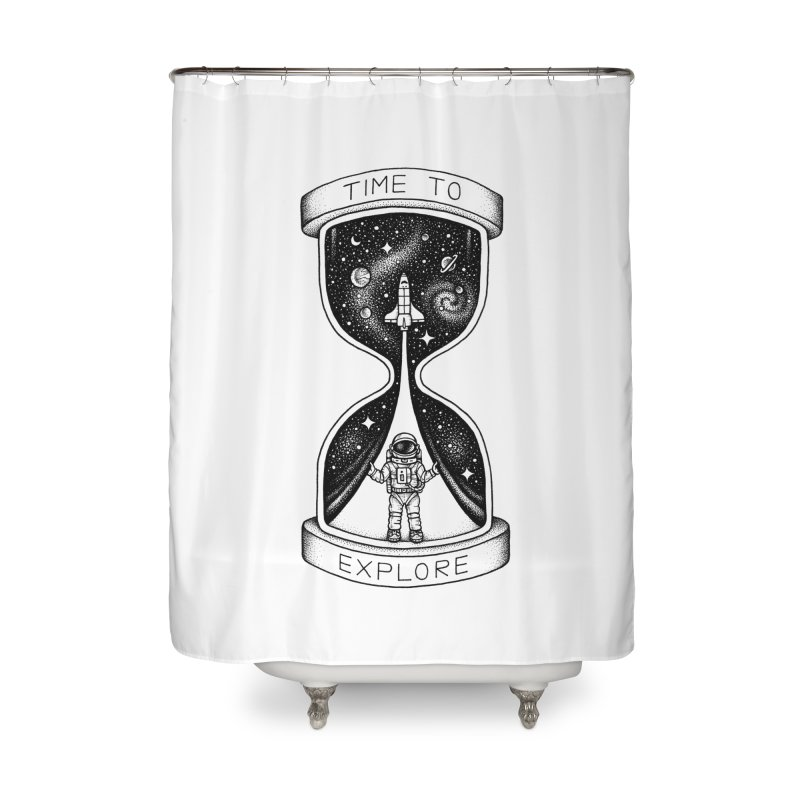 Time to Explore Home Shower Curtain by Buko