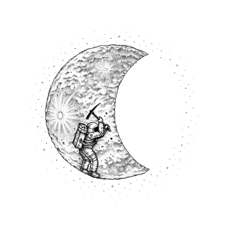 Lunar Excavation by Buko