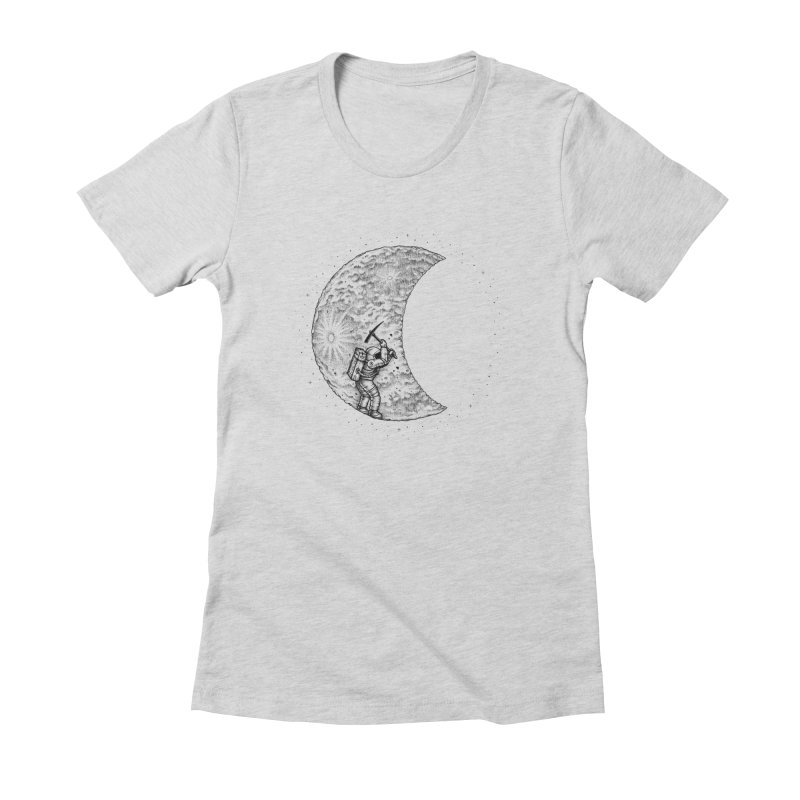 Lunar Excavation Women's Fitted T-Shirt by Buko