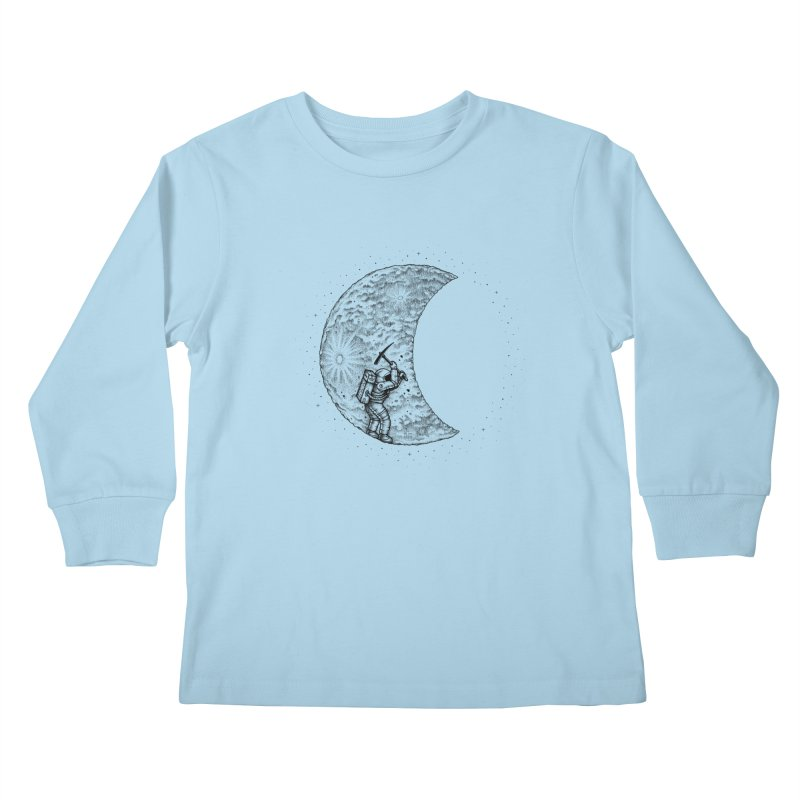 Lunar Excavation Kids Longsleeve T-Shirt by Buko
