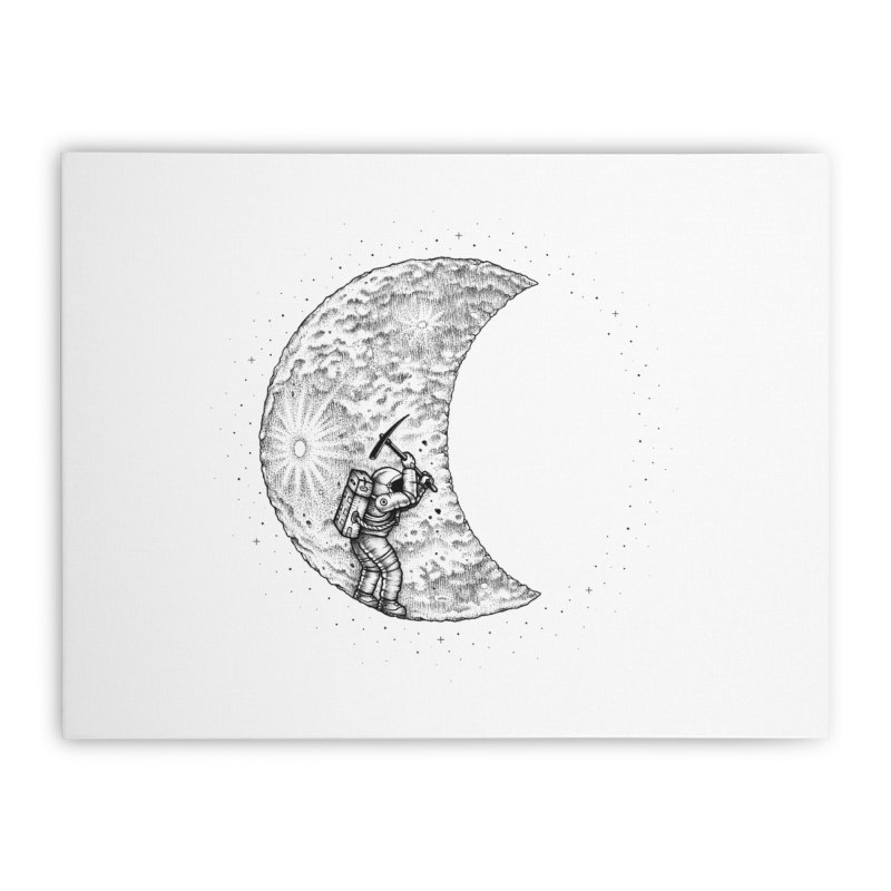 Lunar Excavation Home Stretched Canvas by Buko
