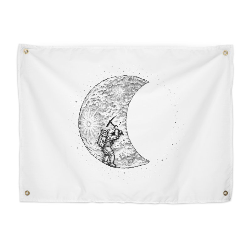 Lunar Excavation Home Tapestry by Buko