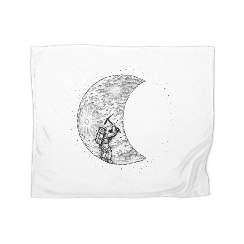 Lunar Excavation Home Blanket by Buko