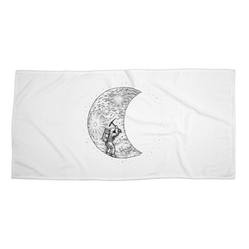 Lunar Excavation Accessories Beach Towel by Buko