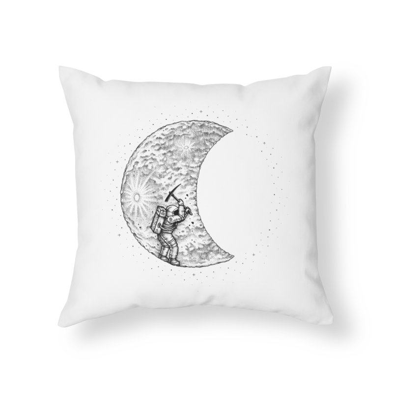 Lunar Excavation Home Throw Pillow by Buko