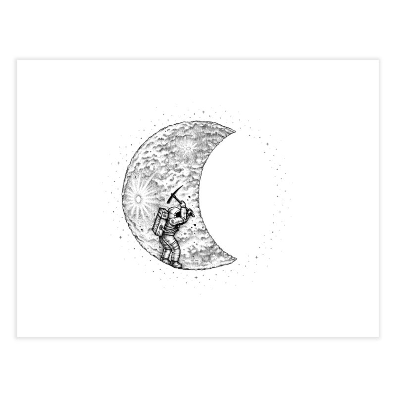 Lunar Excavation Home Fine Art Print by Buko