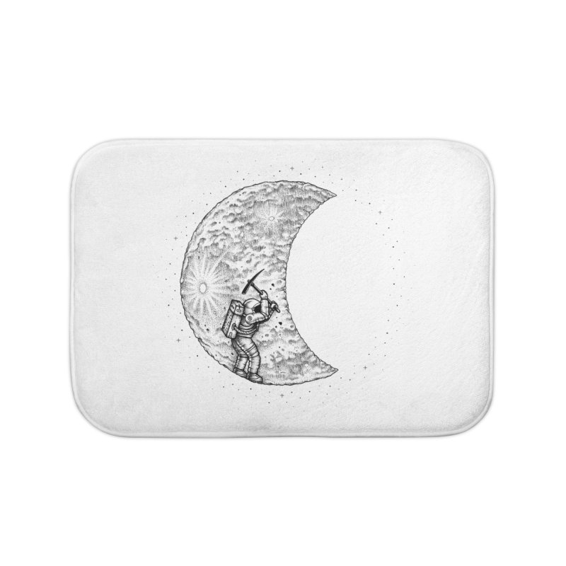Lunar Excavation Home Bath Mat by Buko