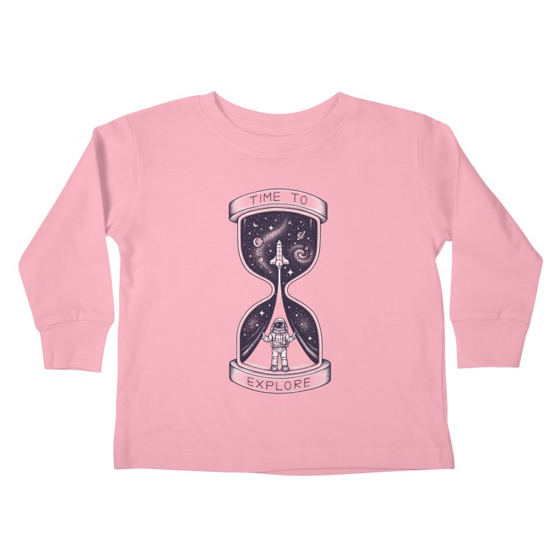 Time to Explore Kids Toddler Longsleeve T-Shirt by Buko