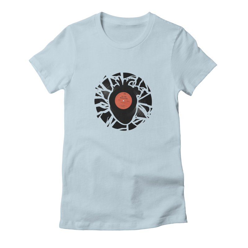 All You Need Is Love Women's Fitted T-Shirt by Buko