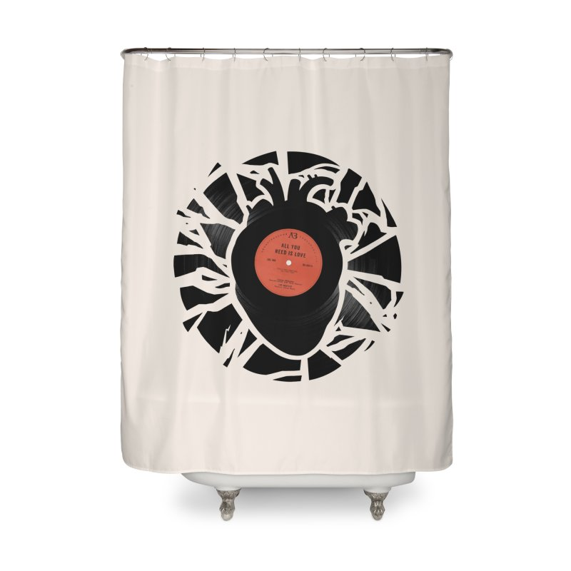 All You Need Is Love Home Shower Curtain by Buko