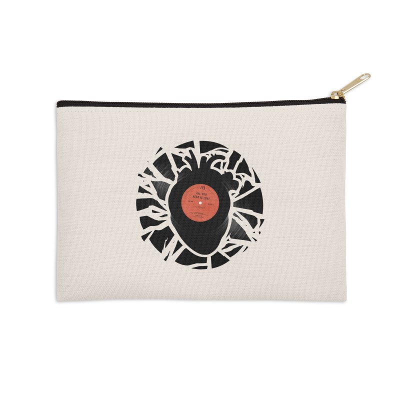 All You Need Is Love Accessories Zip Pouch by Buko