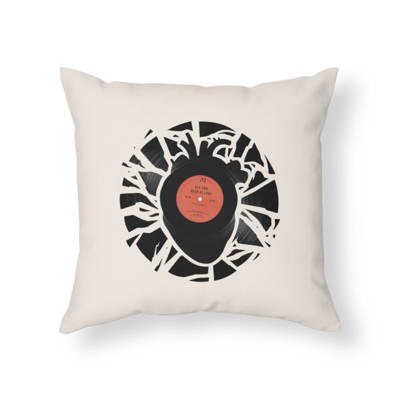 All You Need Is Love Home Throw Pillow by Buko