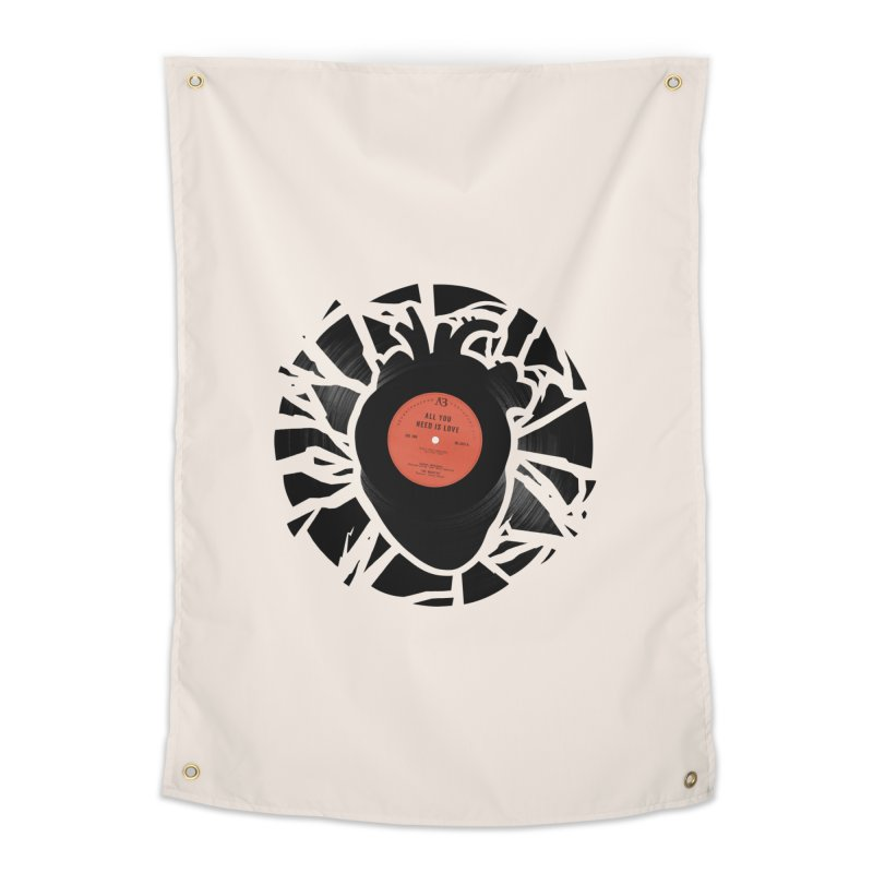 All You Need Is Love Home Tapestry by Buko
