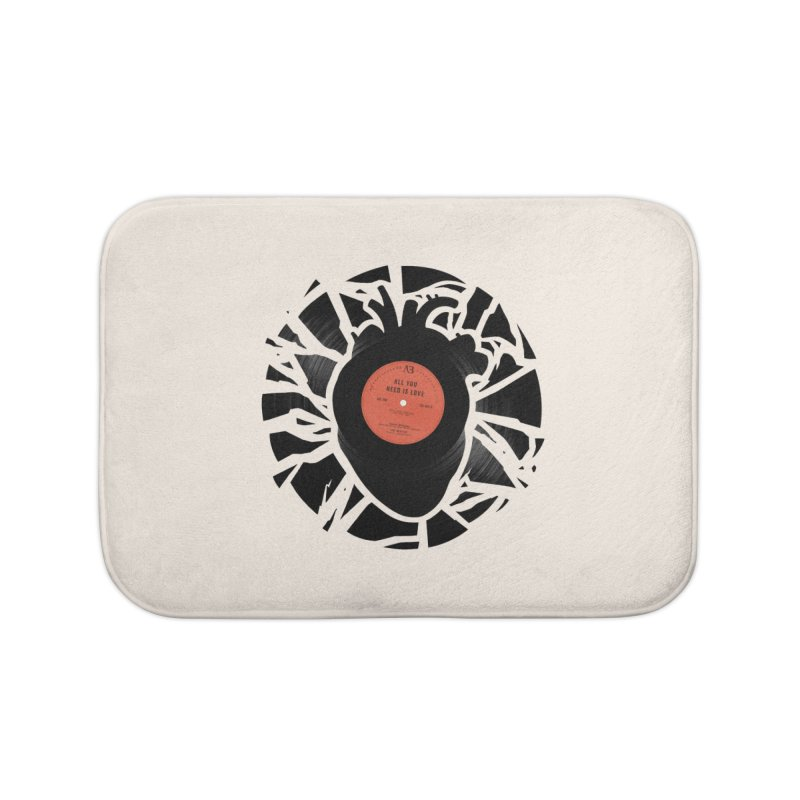 All You Need Is Love Home Bath Mat by Buko