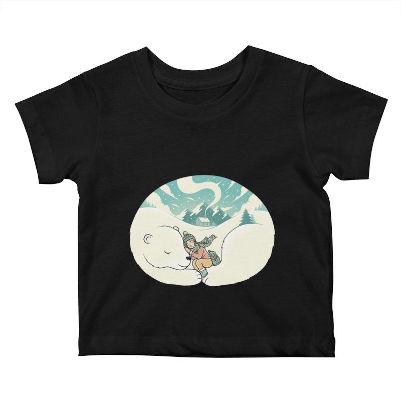 Cozy Winter Kids Baby T-Shirt by Buko