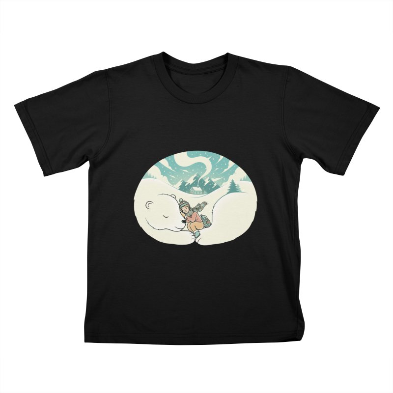 Cozy Winter Kids T-Shirt by Buko