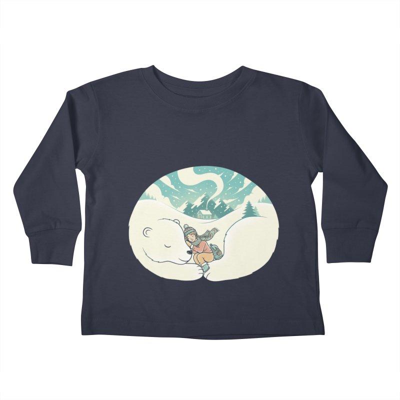 Cozy Winter Kids Toddler Longsleeve T-Shirt by Buko
