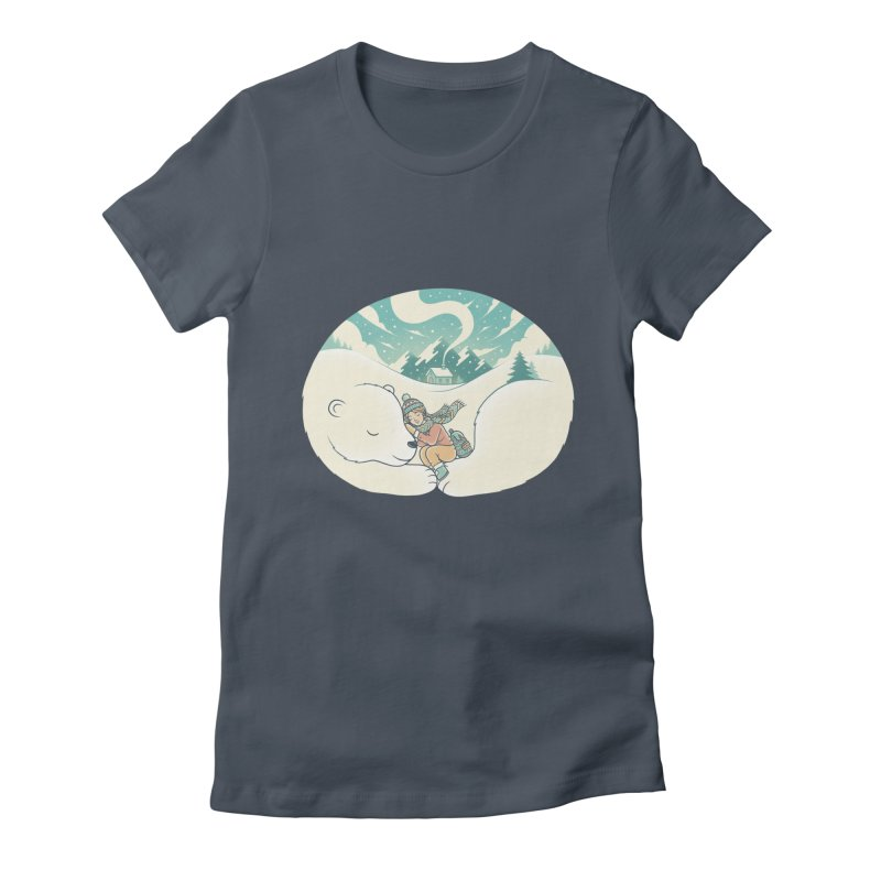 Cozy Winter Women's Fitted T-Shirt by Buko