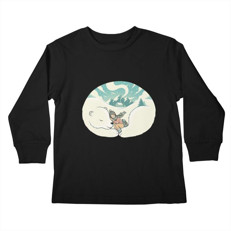 Cozy Winter Kids Longsleeve T-Shirt by Buko