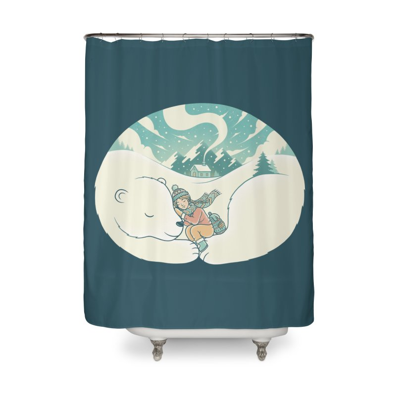 Cozy Winter Home Shower Curtain by Buko