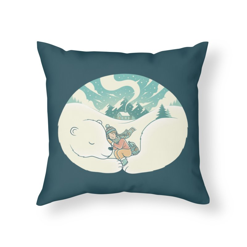Cozy Winter Home Throw Pillow by Buko