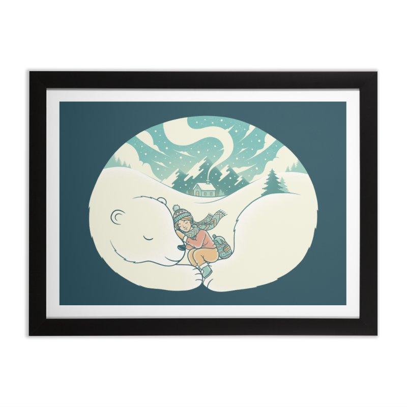 Cozy Winter Home Framed Fine Art Print by Buko