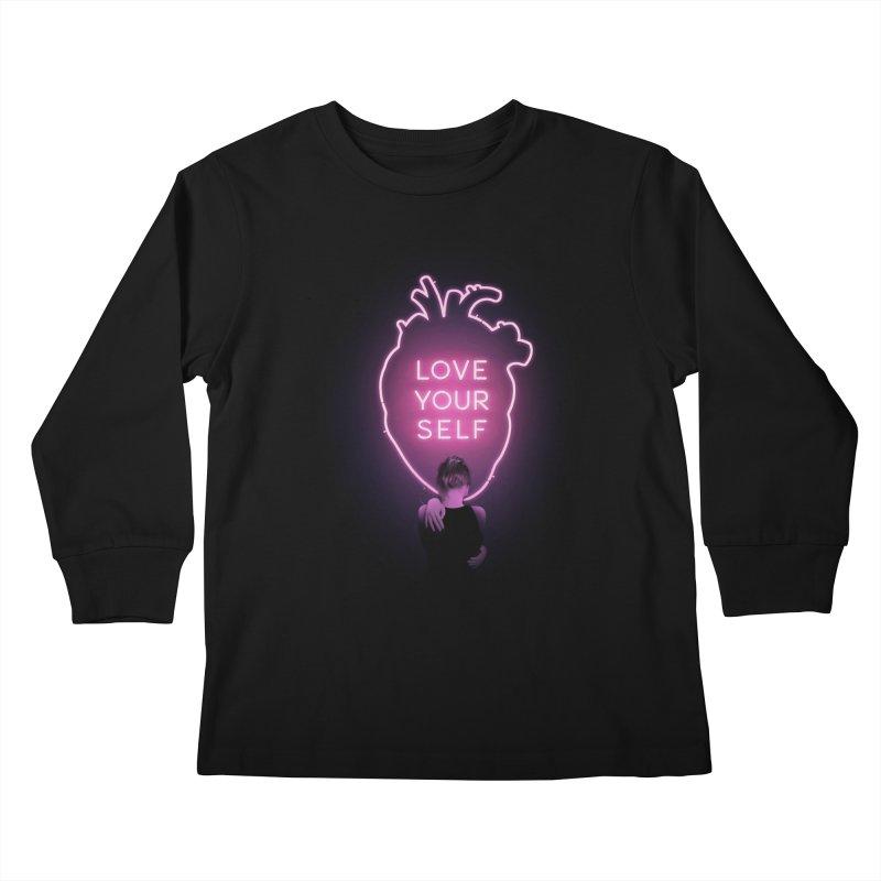 Love Yourself Kids Longsleeve T-Shirt by Buko