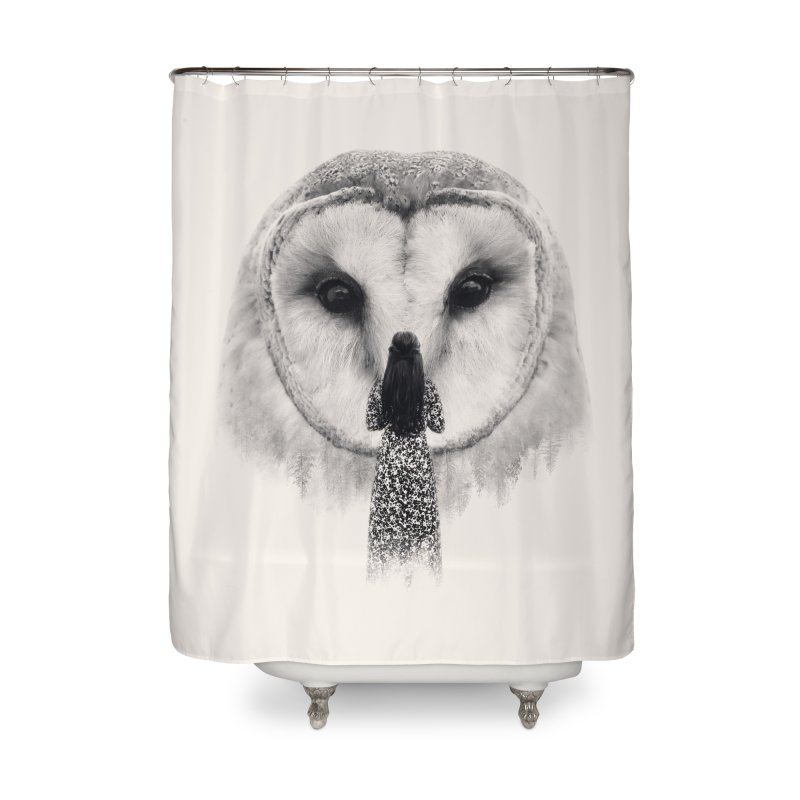 Nocturnal Friend Home Shower Curtain by Buko