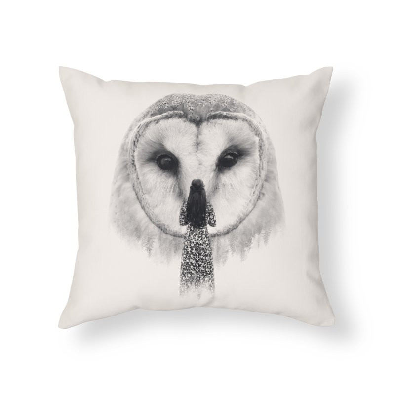 Nocturnal Friend Home Throw Pillow by Buko