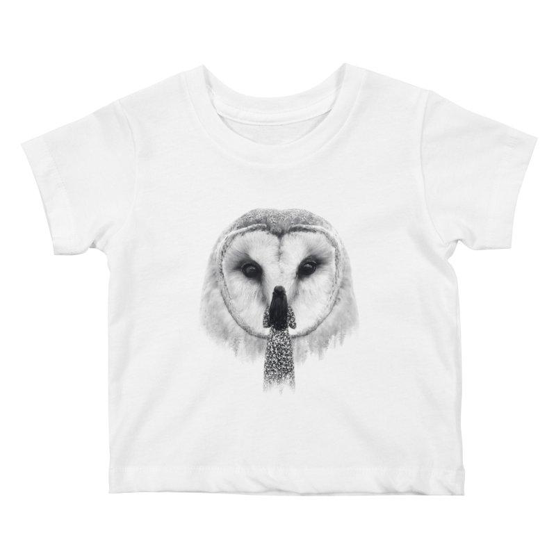 Nocturnal Friend Kids Baby T-Shirt by Buko