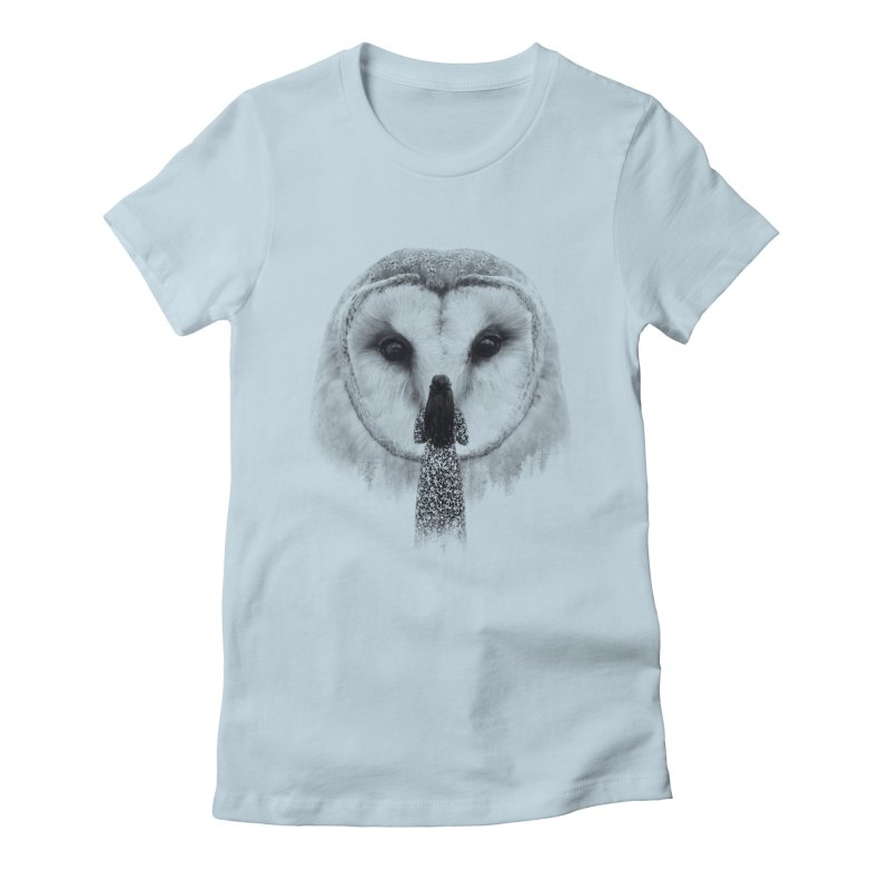 Nocturnal Friend Women's Fitted T-Shirt by Buko